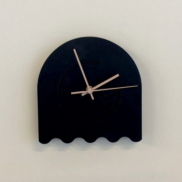 harmonics klok zwart roze 01